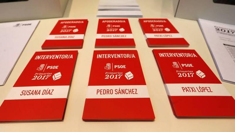 Preparativos en Ferraz de las primarias en el PSOE.