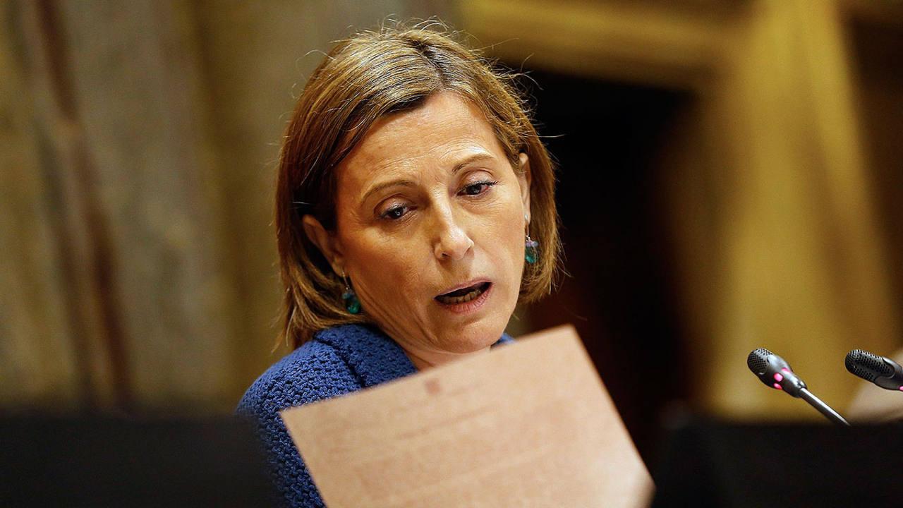 La presidenta del Parlamento catalán, Carme Forcadell