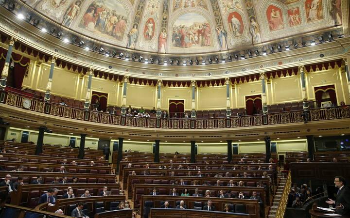 El presidente del Gobierno, Mariano Rajoy, durante su intervención en la segunda jornada del debate sobre el estado de la nación