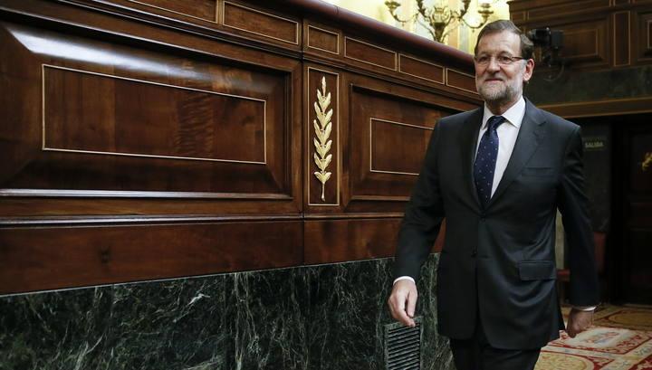 El presidente del Gobierno, Mariano Rajoy, durante el pleno del Congreso de los Diputados.