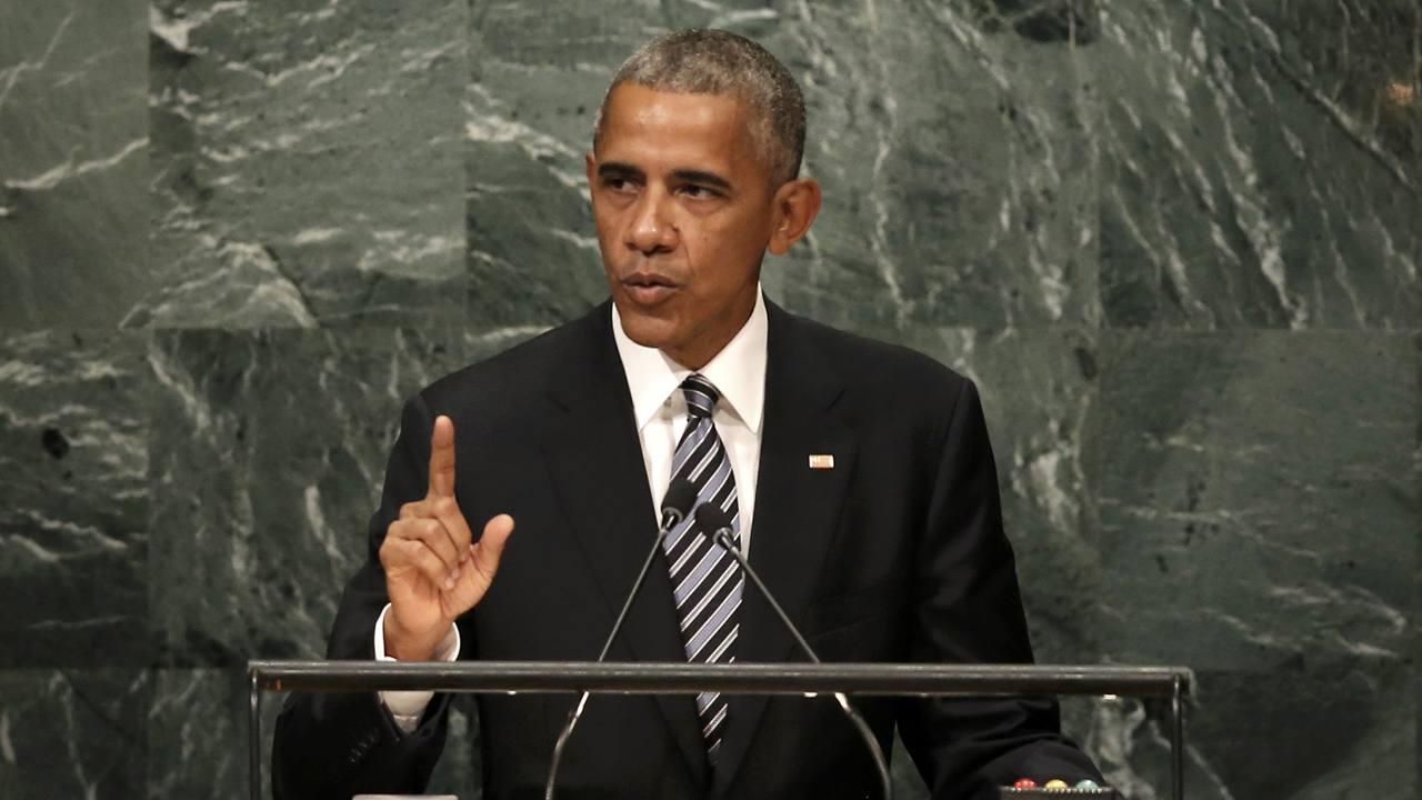 El presidente de los Estados Unidos, Barack Obama, habla en la Asamblea General de la ONU