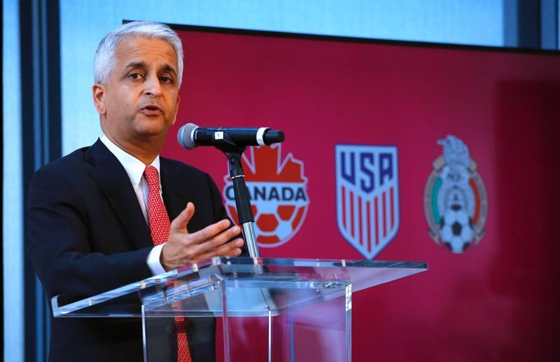 El presidente de la federeación estadounindense de fútbol, Sunil Gulati.