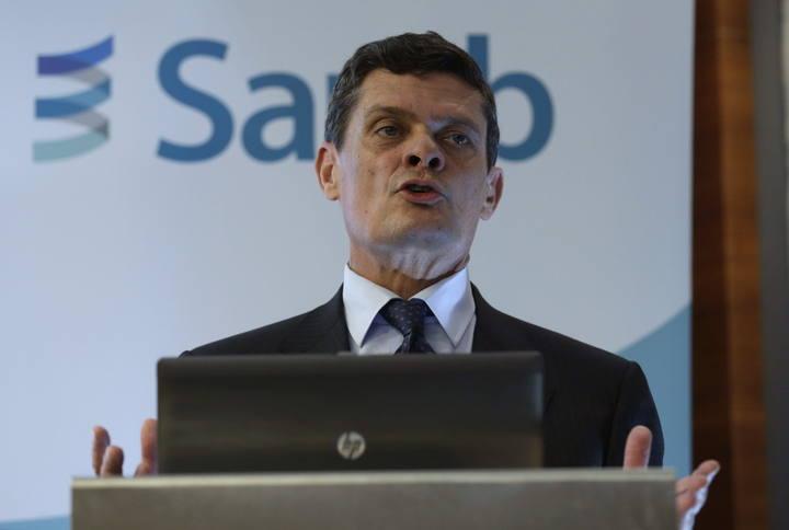 El presidente de Sareb, Jaime Echegoyen, durante una rueda de prensa