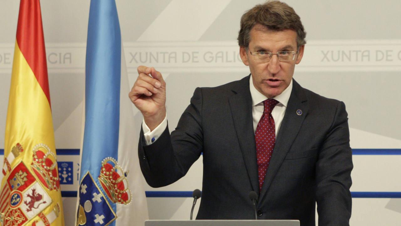 El presidente de la Xunta de Galicia, Alberto Núñez Feijóo