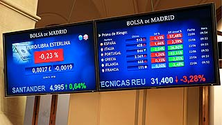 La presión sobre la deuda se relaja notablemente y la Bolsa sube aupada por la banca