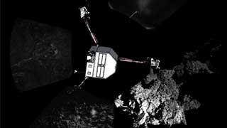 El módulo Philae envía las primera fotos realizadas desde la superficie del cometa