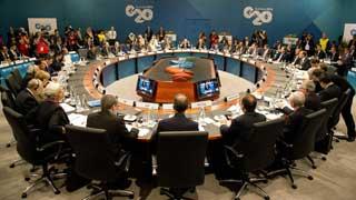 Primera jornada de trabajo de los líderes del G-20