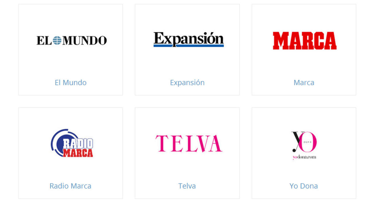 Principales cabeceras de Unidad Editorial.