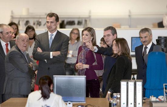 Los Príncipes de Asturias visitan la sede central de Inditex en Arteixo, A Coruña