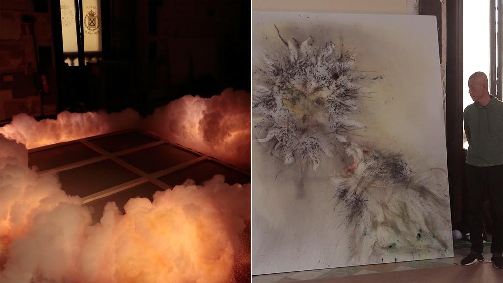 El proceso de trabajo con pólvora del artista chino Cai Guo-Qiang