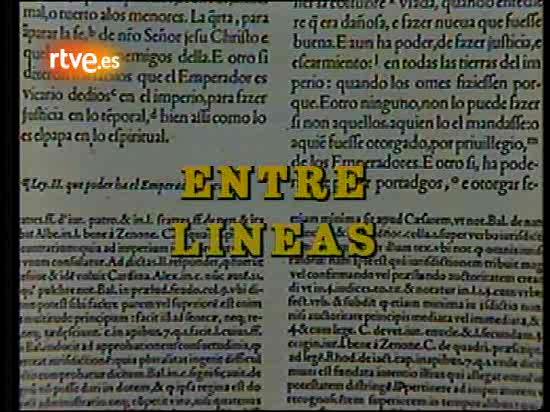Programa de la revista literaria 'Entre líneas' emitido en 1988