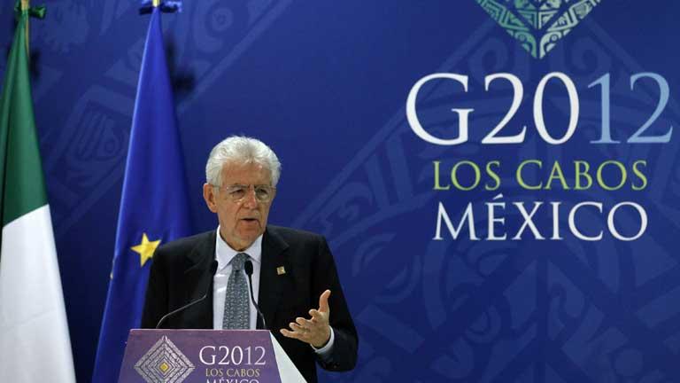 Monti propone el uso del fondo de rescate para comprar deuda española e italiana