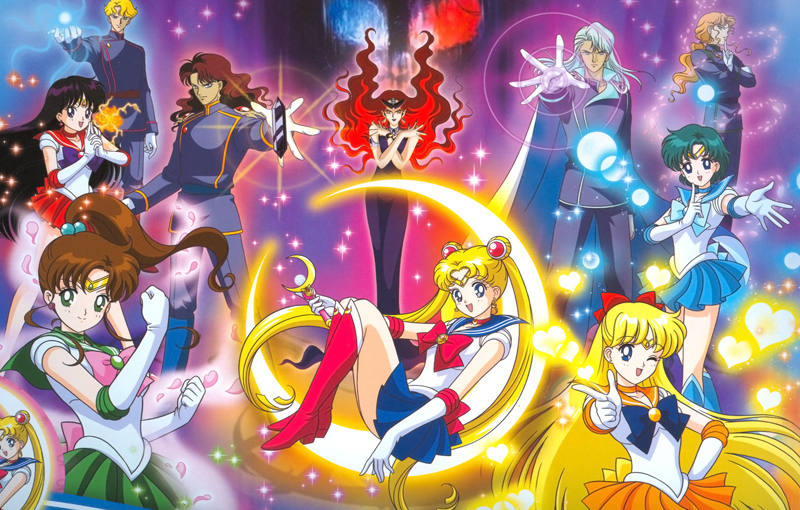 Los protagonistas de 'Sailor Moon'