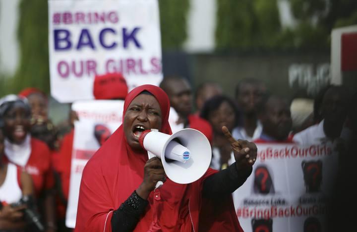 Protesta de la campaña 'Bring Back Our Girls' en Nigeria
