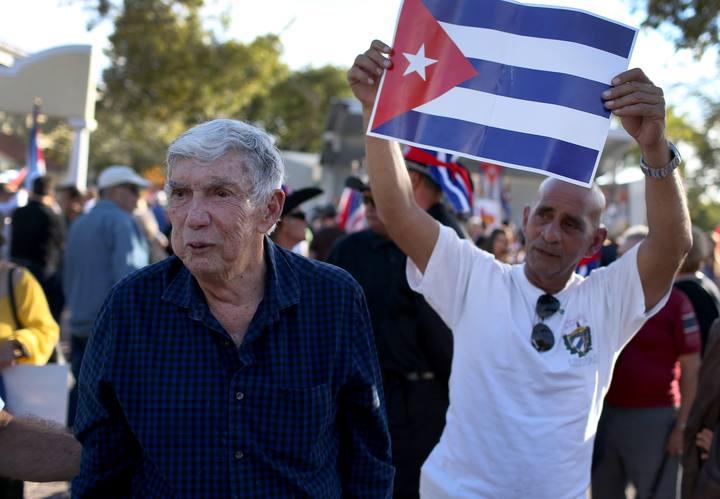 Protesta de opositores cubanos en Miami
