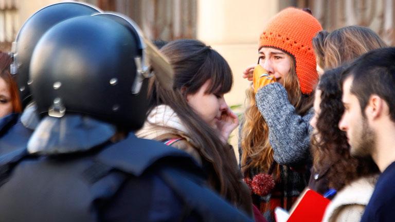 Las protestas de los estudiantes valencianos acaban con seis detenidos más