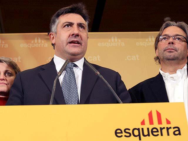 """Puigcercós admite la derrota de ERC y valora el triunfo del """"catalanismo"""" de CiU"""
