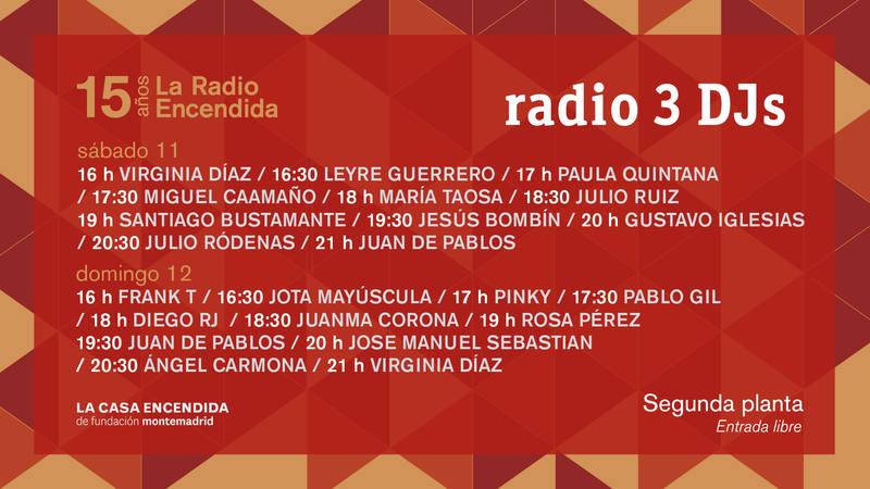 La Radio Encendida 2017 DJs