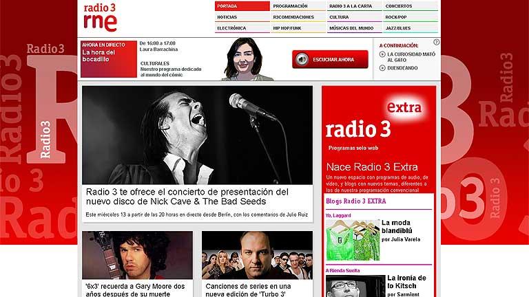 Radio Nacional estrena Radio 3 Extra