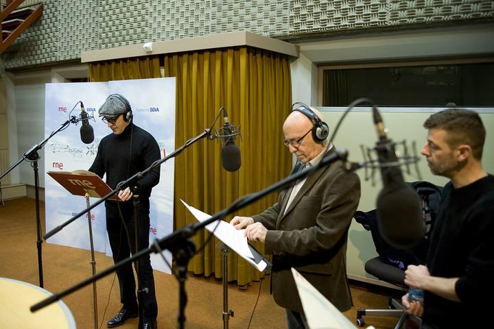 Un momento de la grabación del radioteatro 'El Quijote del Siglo XXI'