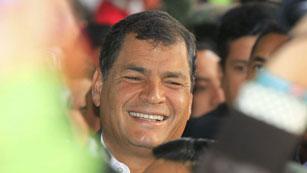 Rafael Correa gana las elecciones presidenciales en Ecuador