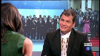Los desayunos de TVE - Rafael Correa, Presidente de Ecuador