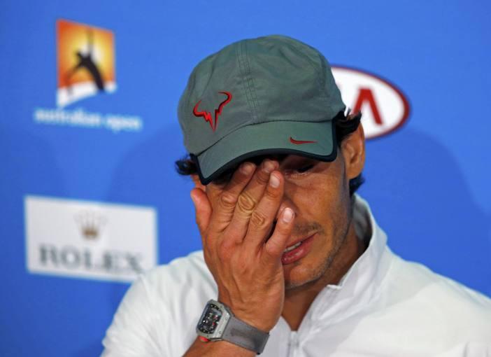 Rafael Nadal, en la rueda de prensa posterior a la final