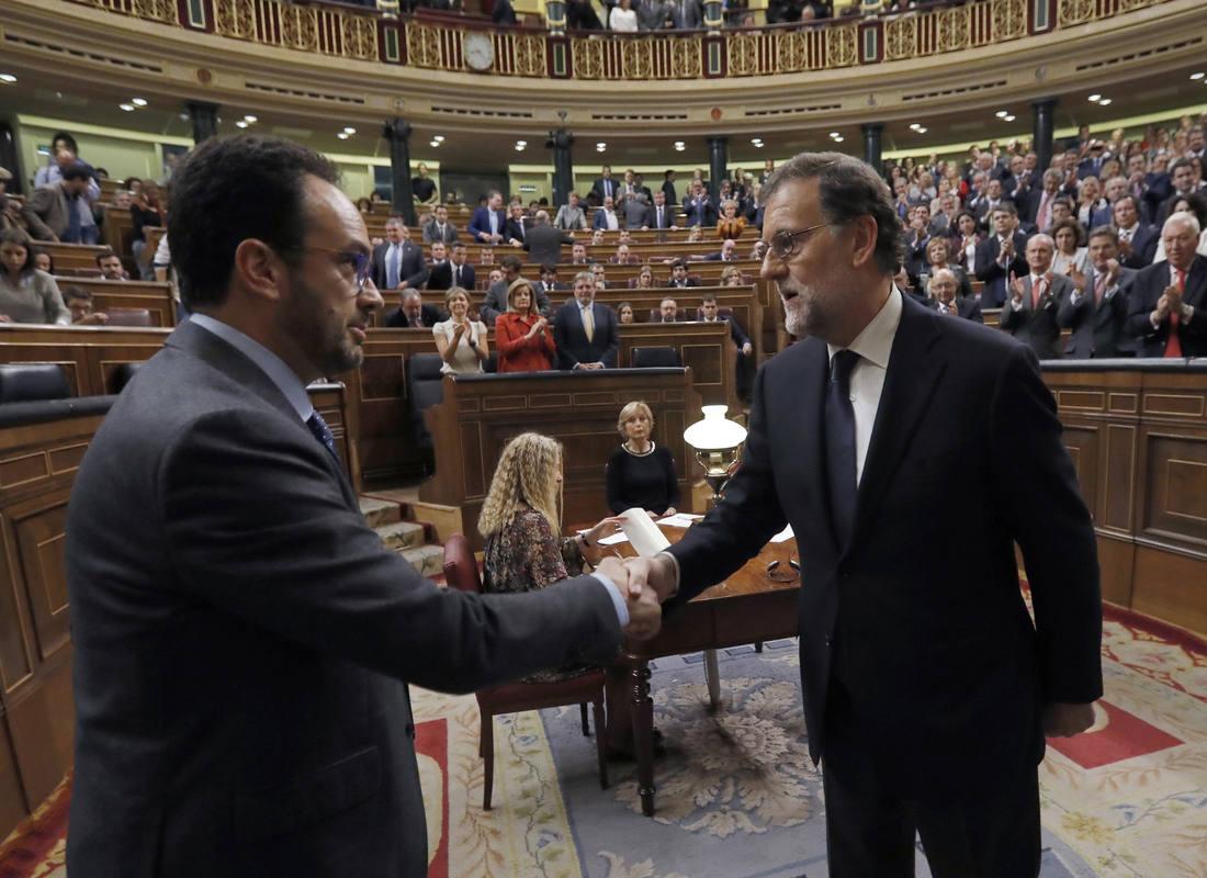 Rajoy y Antonio Hernando