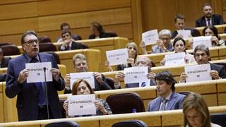"""Rajoy afirma que no dio """"instrucción"""" a la Fiscalía sobre el 9N y los senadores de CiU se """"autoinculpan"""""""