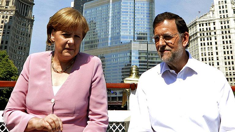 Rajoy dice que Merkel respalda sus reformas