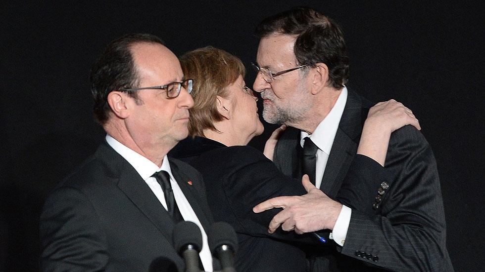 """Rajoy, Hollande y Merkel trabajarán """"juntos"""" para conocer las causas del accidente aéreo"""
