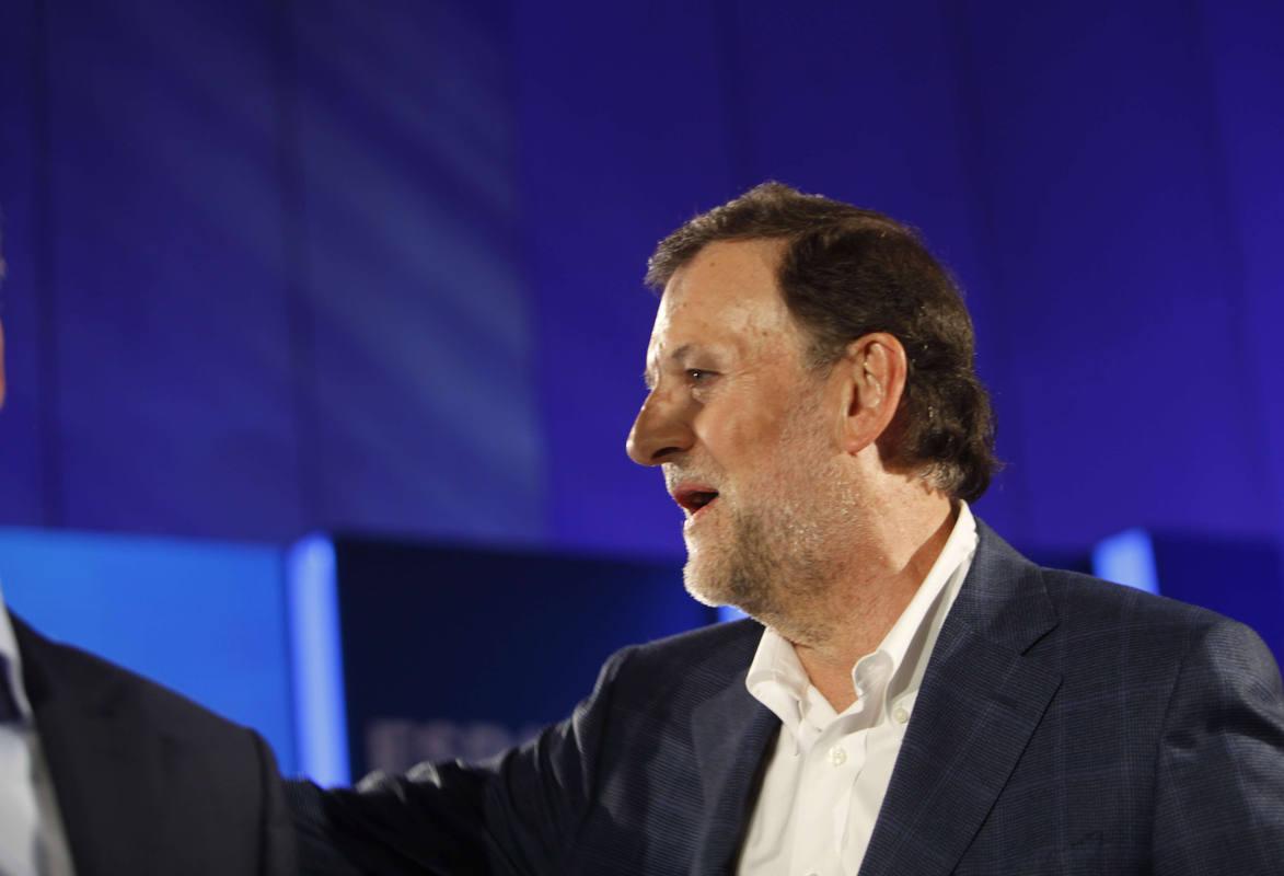 Rajoy, al inicio del mitin central del PP en A Coruña