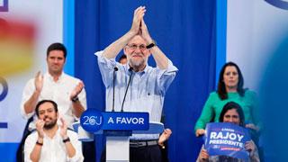 """Rajoy llama a concentrar el voto moderado en el PP para que no se aprovechen """"los malos"""" de Unidos Podemos"""