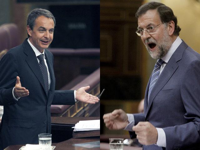 Rajoy pide elecciones y Zapatero una oposición responsable