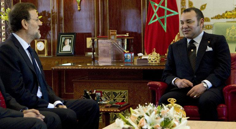 Rajoy ha sido recibido por Mohamed VI en su primera visita a Marruecos