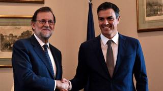 Rajoy y Sánchez se reúnen en el Congreso antes de la investidura