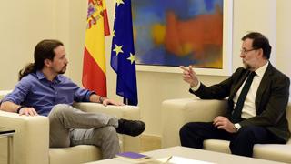 Rajoy se reúne con Rivera e Iglesias en la Moncloa para abordar la deriva soberanista
