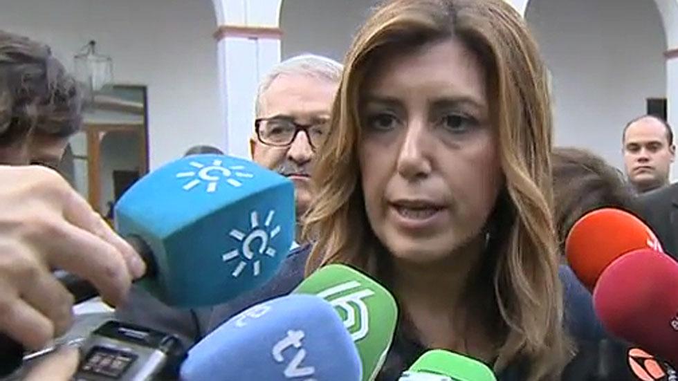 """Díaz confía en la """"honradez"""" de Chaves y Griñán pero les pedirá que dejen su escaño si les imputan"""