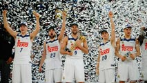 Ir al VideoEl Real Madrid de baloncesto celebra su cuarta Copa consecutiva