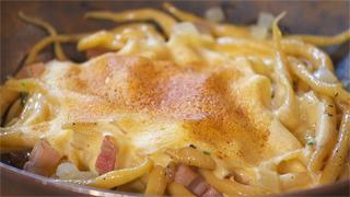 Torres en la cocina - Receta de pasta fresca carbonara con sabayón