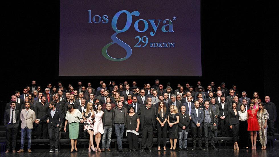 Los nominados a los premios Goya celebran los récords del cine español en 2015