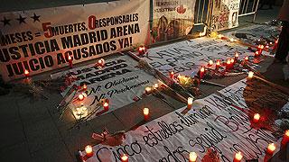 Recuerdo a las cinco víctimas del Madrid Arena dos años después