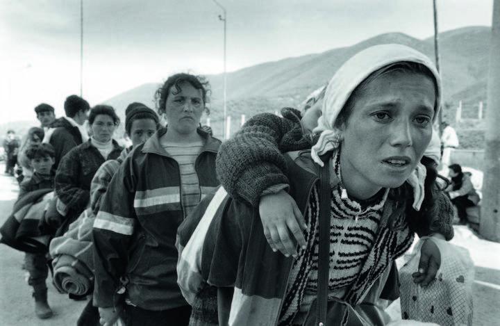 Refugiados albano kosovares en Morina, Albania, 1999