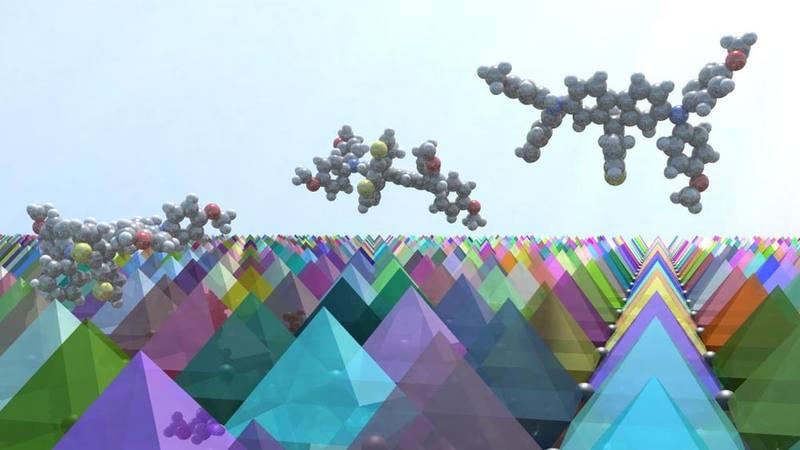 Representación de las células solares Petrovskita.