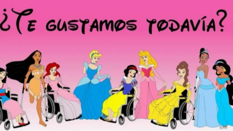 Un artista italiano retoca la imagen de algunos dibujos animados conocidos para llamar la atención sobre la discapacidad