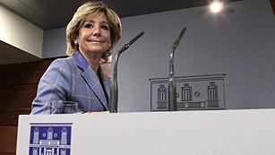 Aguirre propone a Rajoy un pacto con el PSOE para reducir el estado autonómico