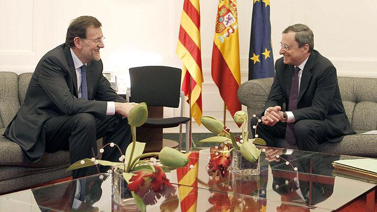 """Rajoy pide liquidez a Draghi para """"proteger"""" las reformas y estimular el crecimiento"""