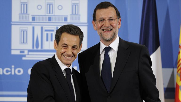 Rajoy se ha reunido con el presidente francés, Nicolás Sarkozy