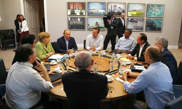 Reunión de trabajo de los líderes del G-8