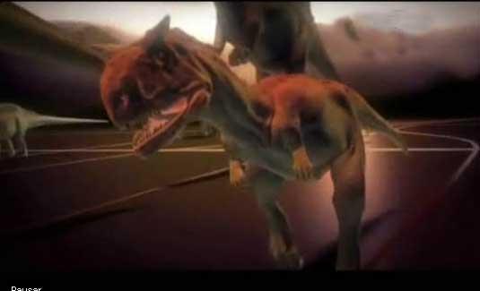 Un temible Tiranosaurio Rex de tan solo tres metros